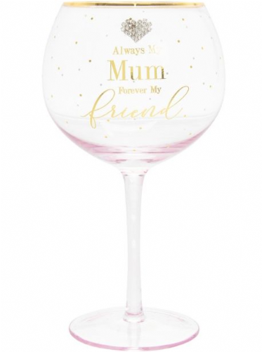 MAD DOTS MUM GIN GLASS gift